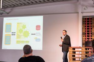 Markus Winkler stellt die SAP-Komponenten auf dem Talend User Group Treffen vor
